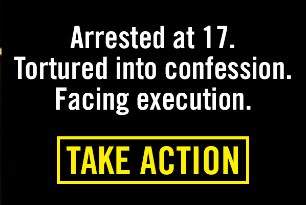 Juvenile activist to be executed - TAKE ACTION